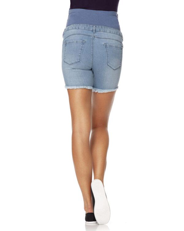 Shorts in denim chiaro sfrangiato - Prénatal