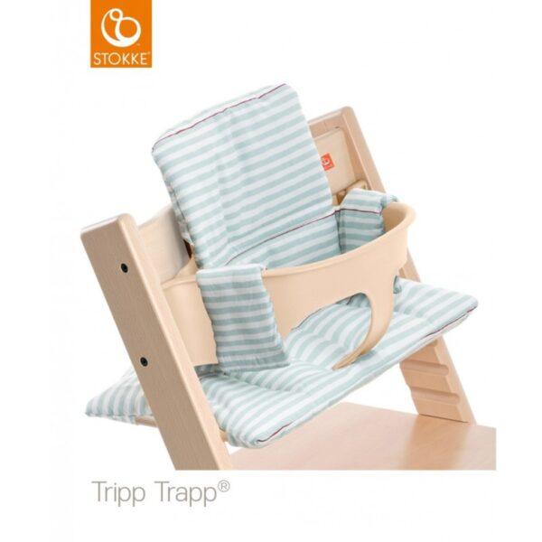 Cuscino per Stokke® Tripp Trapp® - aqua stripes - Stokke