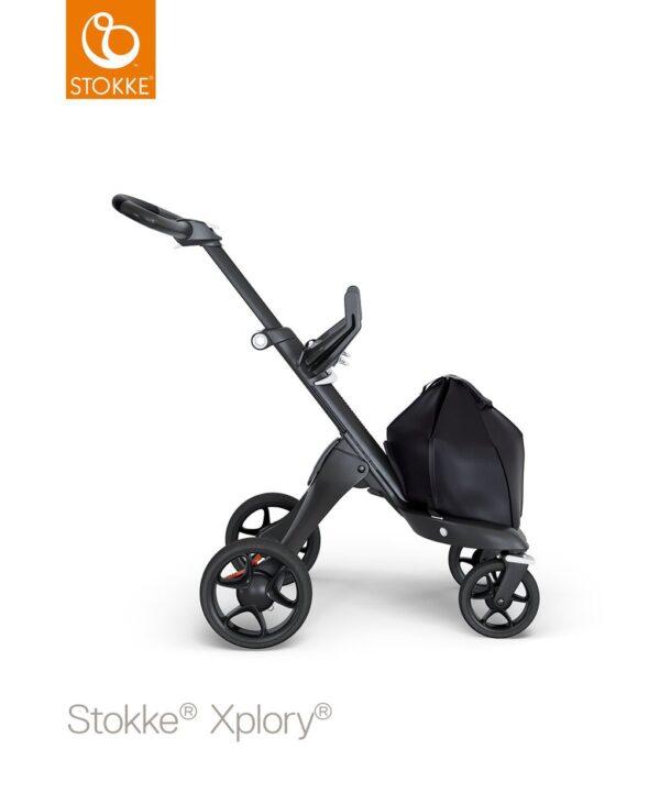 Telaio Black con maniglione in ecopelle nero per Stokke® Xplory® V6 - Stokke