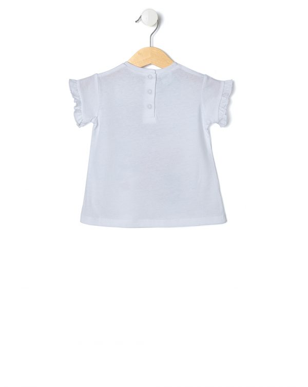 T-shirt bianca con Minnie tra i fiori - Prénatal