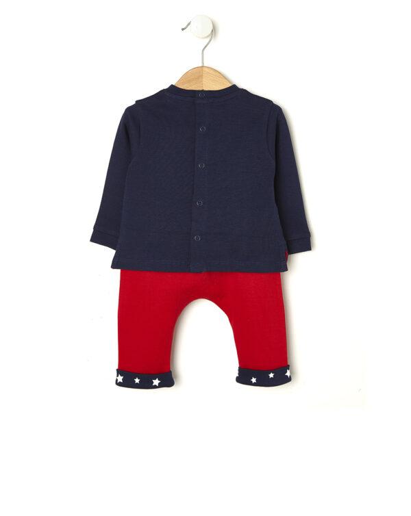 Completo rosso e blu con scritta Like a Boss - Prénatal