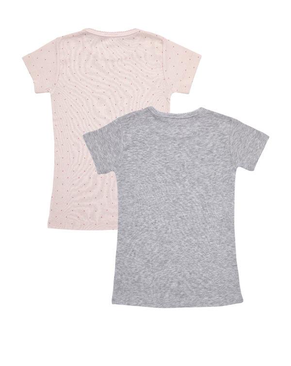 Pack 2 t-shirt rosa e grigio con coniglietto e pois - Prénatal