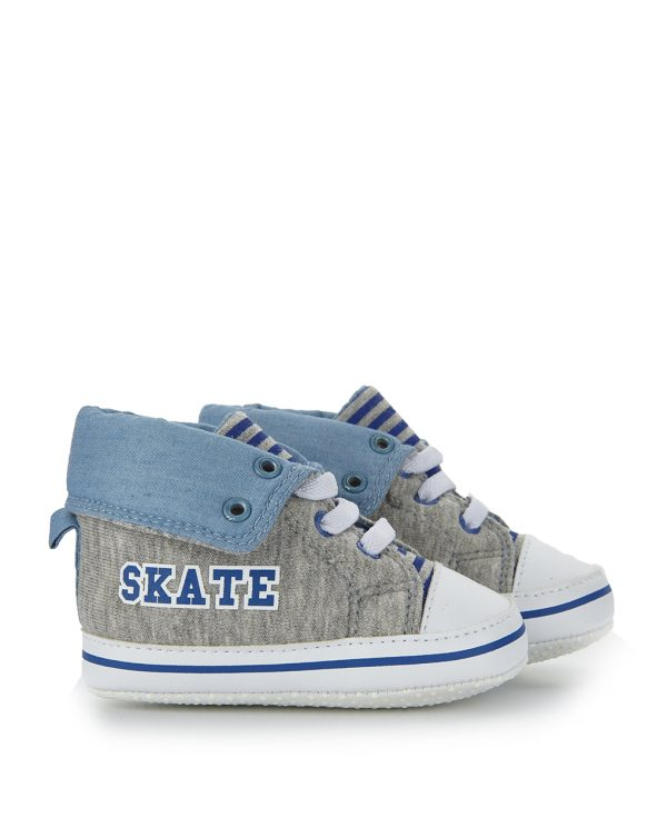 Scarpe in felpa grigia e scritta Skate - Prénatal
