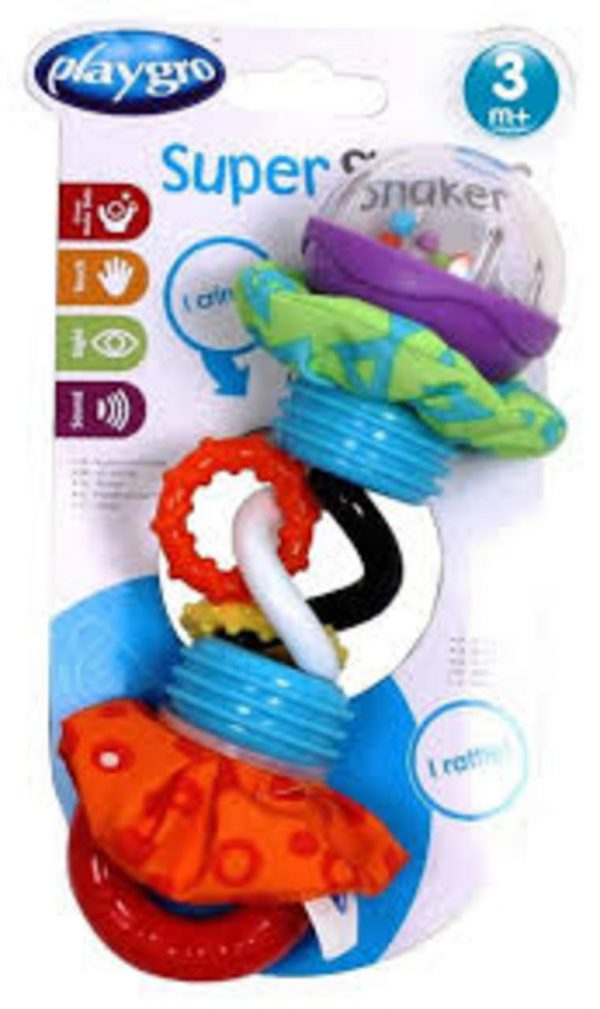 SUPER SHAKER RATTLE + TEETHER - Playgro