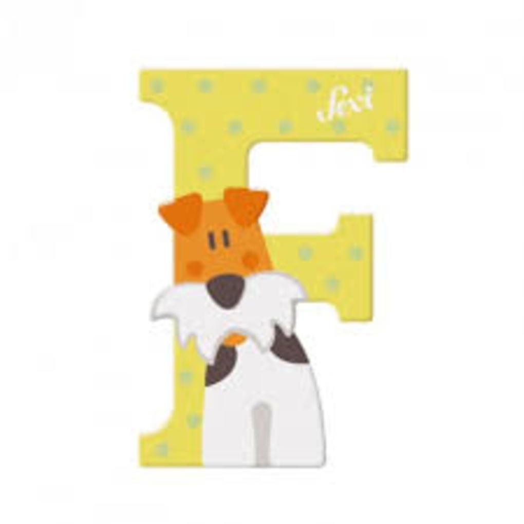 Lettera f fox terrier - Sevi