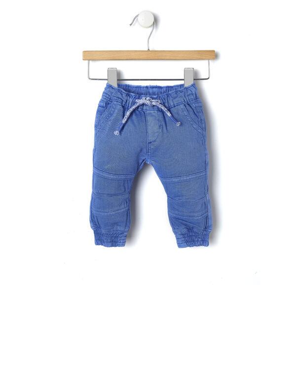 Jeans blu con elastico alle caviglie - Prénatal