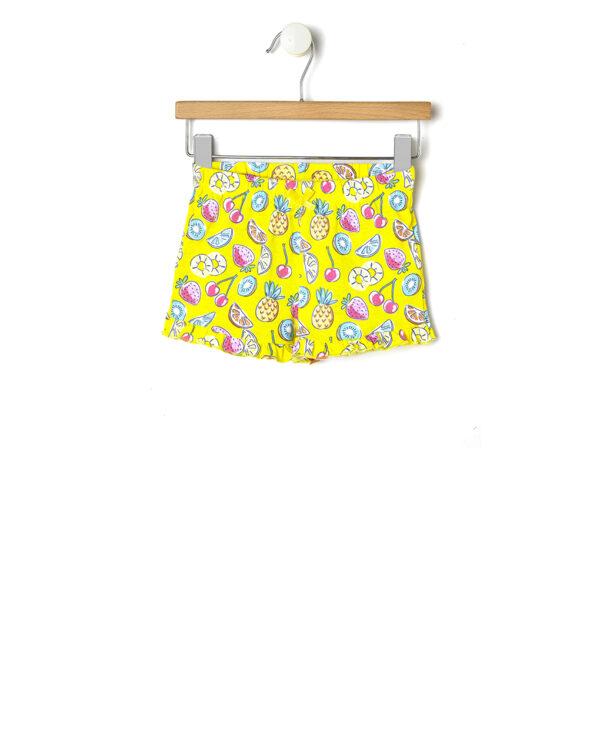 Calzoncino giallo con stampa all-over frutta - Prénatal