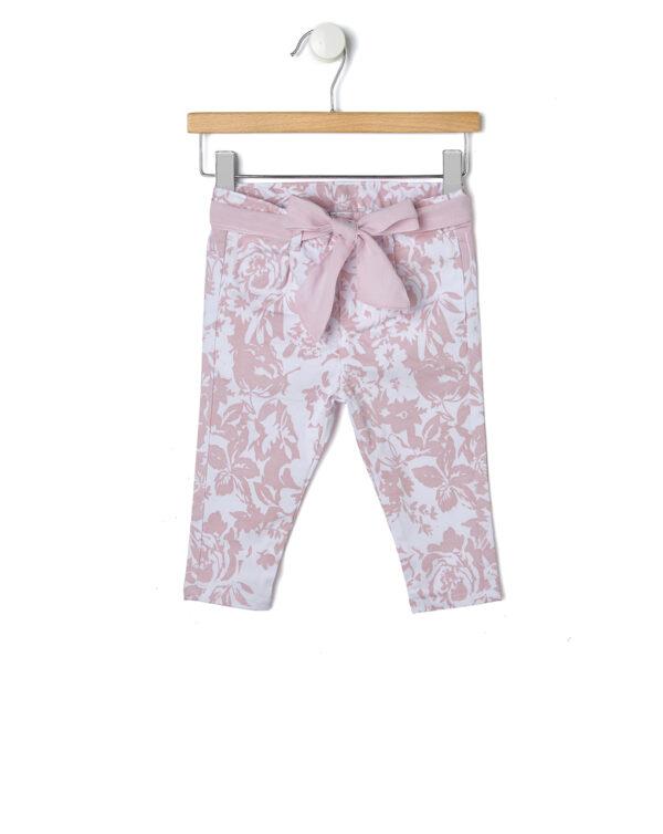 Pantalone elegante con stampa rose - Prénatal