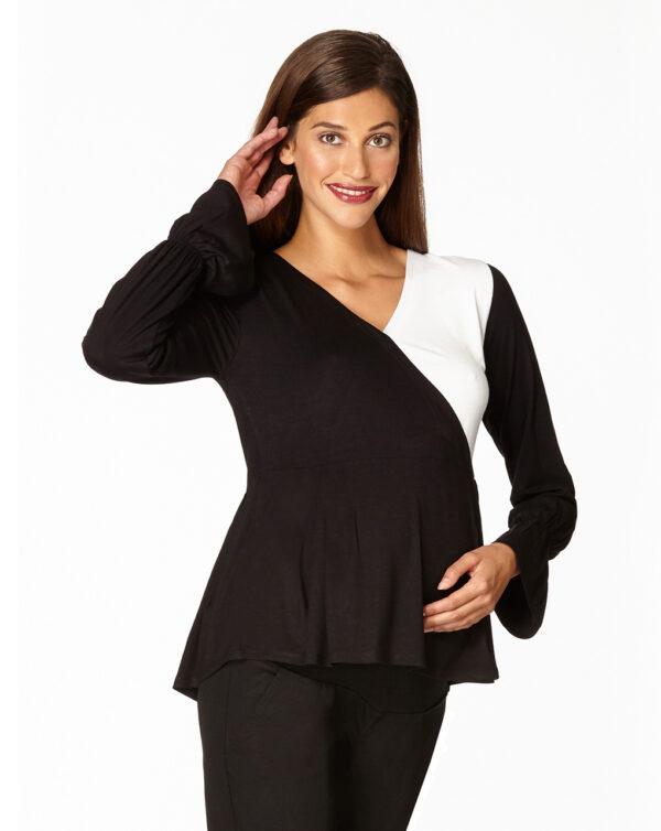 T-shirt allattamento bicolore con automatico - Prénatal