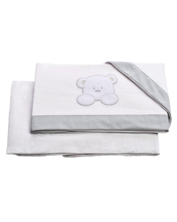 Set letto Teddy 3 pezzi lenzuolo-lenzuolo con angoli-federa - italbaby