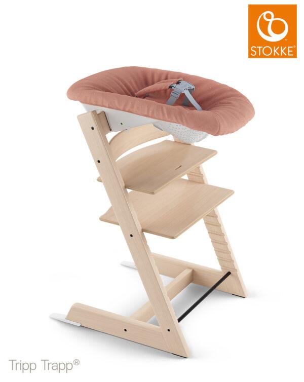 Tripp Trapp® Newborn Set con gancio appendigiochi - coral confetti - Stokke