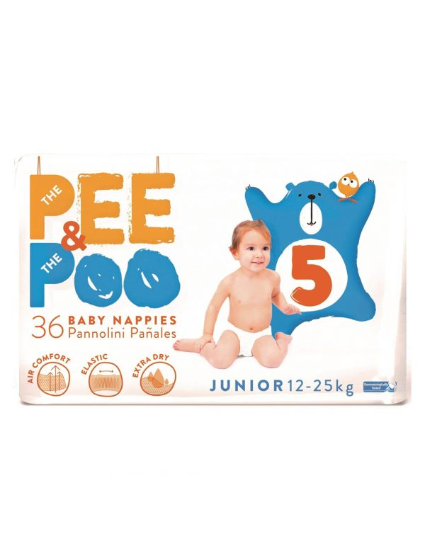 The Pee & The Poo Junior tg 5 (pacco doppio 36 pz) - The Pee & The Poo