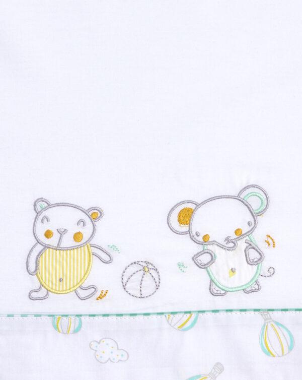Completo culla con animaletti e mongolfiere - Prénatal