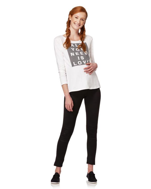 T-shirt bianca con stampa rigata - Prénatal