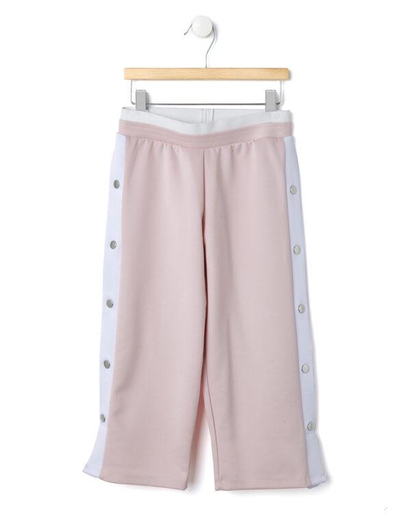 Pantaloni rosa e bianchi con automatici - Prénatal
