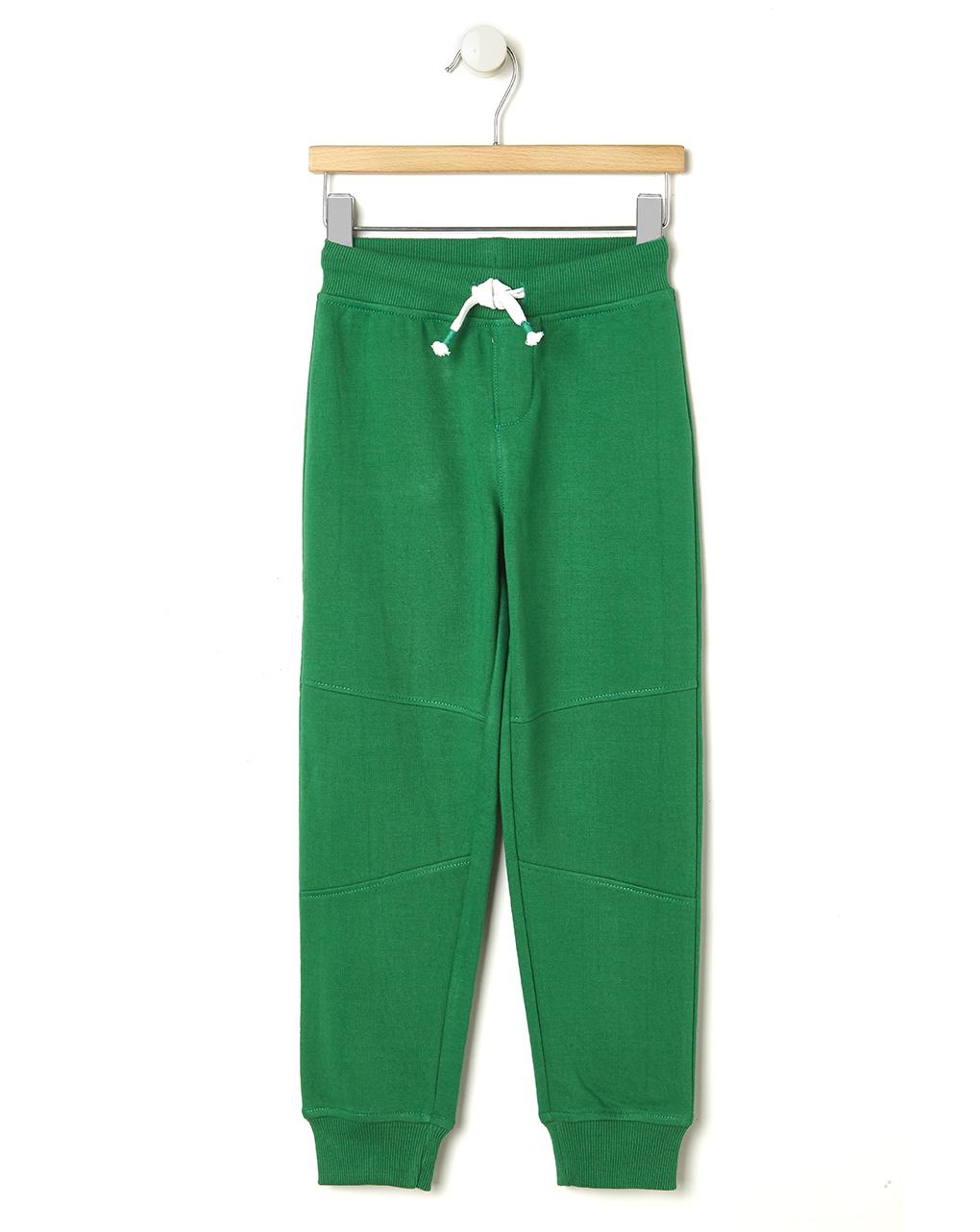 miglior sito web be70b ed273 Pantaloni in felpa verde con coulisse