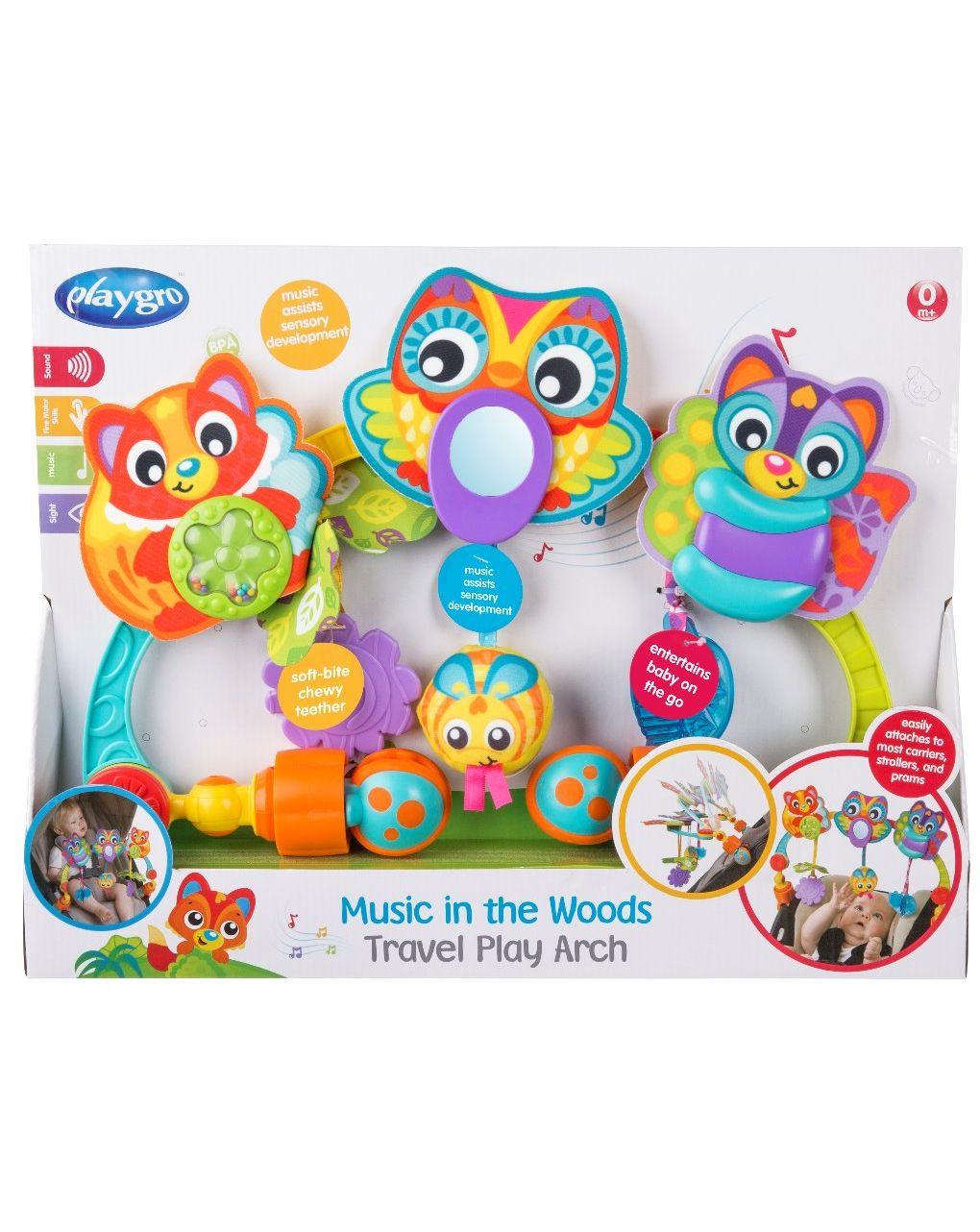 Playgro - music in the wood travel play arch - Playgro