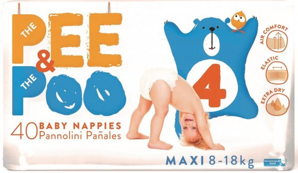 The Pee & The Poo Maxi tg 4 (pacco doppio 40 pz) - The Pee & The Poo