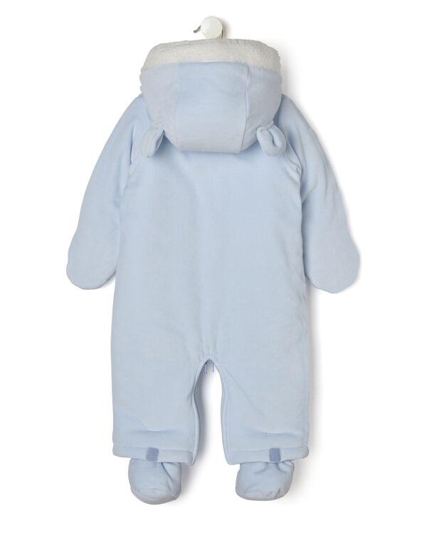 Tuta neve azzurro chiaro con cappuccio e orsetto - Prénatal