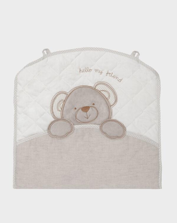 Cesta portaoggetti con orso applicato - Prénatal