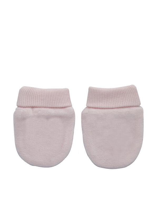 Muffole in ciniglia rosa chiaro con fiocco - Prénatal