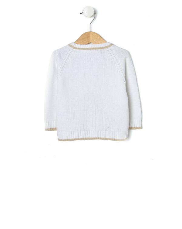 Cardigan in tricot bianco con orsetto - Prénatal