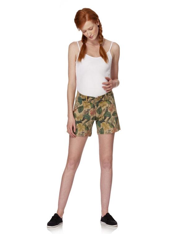 Shorts beige con stampa all-over - Prénatal