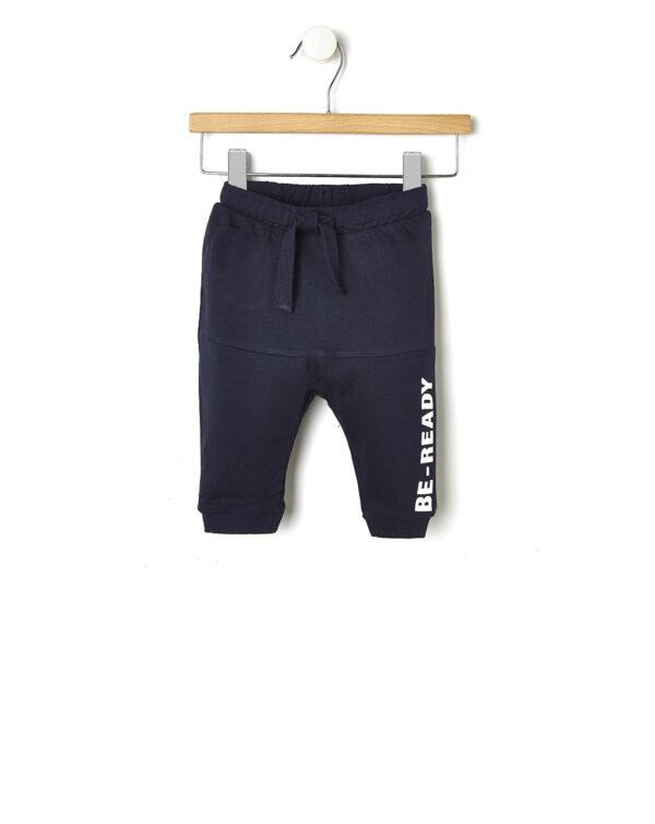 Pantaloni leggings blu scuro con scritta laterale - Prénatal
