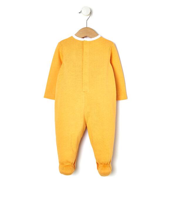 Tutina in jersey arancio con stampa tigre - Prénatal