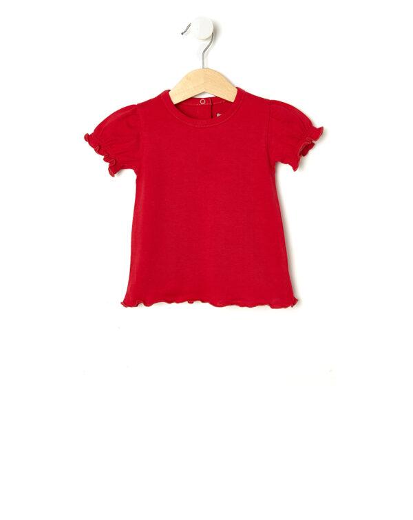 T-shirt rossa con maniche a sbuffo - Prénatal