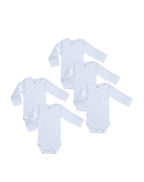 Pack 5 body bianchi a maniche corte con automatici spalla - Prénatal