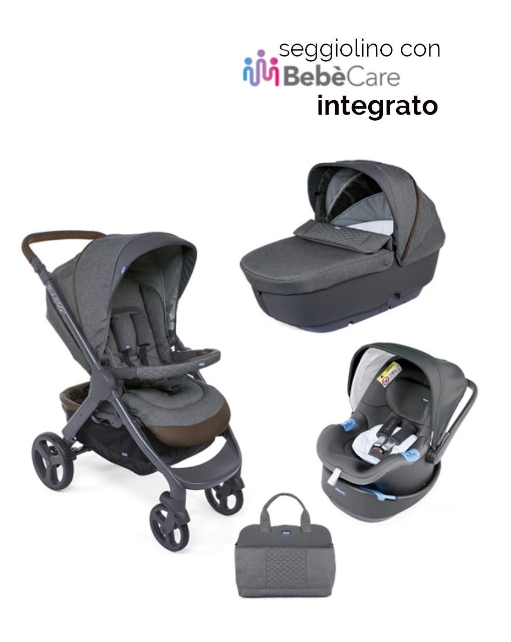 Trio style go up crossover grigio con oasys 0+ up con bebècare - Chicco