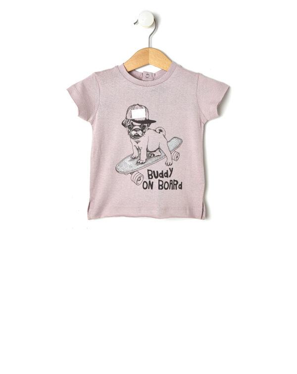 T-shirt con stampa cane su skateboard - Prénatal