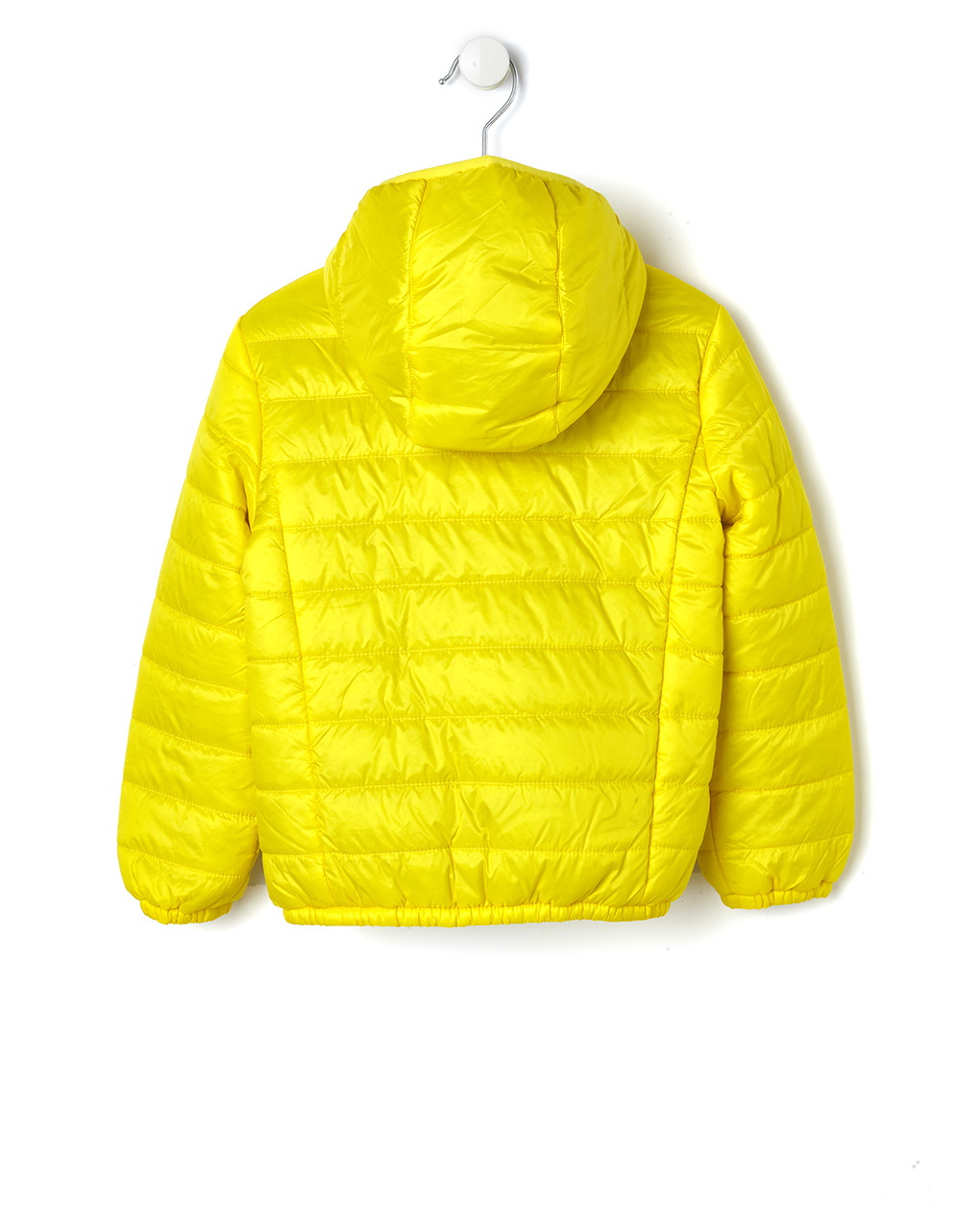 super popular 26e9f bcb8e Piumino giallo con cappuccio