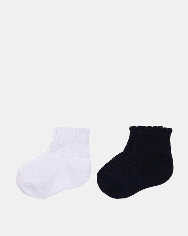 Pack 2 paia di calze corte bimba traforate - Prénatal