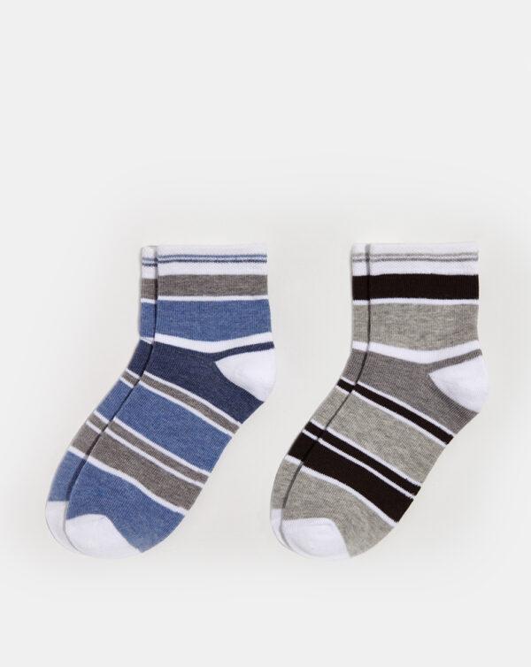 Pack 2 paia di calze corte bambino fantasia rigata - Prénatal