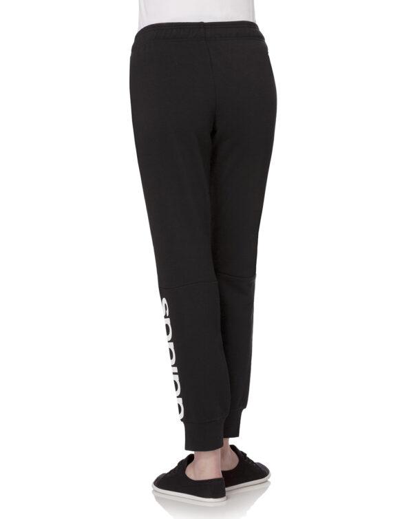 Pantalone in felpa nera con Adidas in bianco - Prénatal