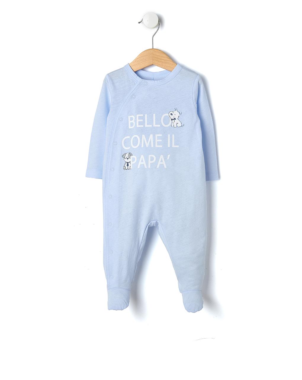 4787cb4571cf Tutina azzurro chiaro con cagnolini Bello come il papà - NEONATO 0 ...