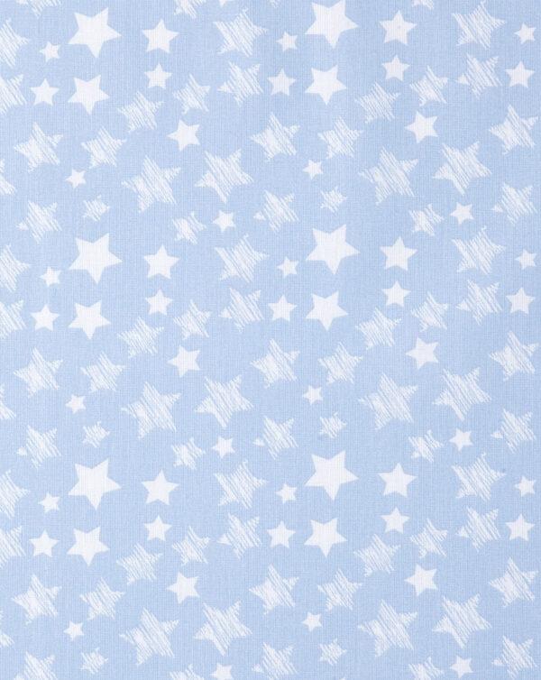 Parure 2 pezzi per culla azzurro con stelline bianche - Prénatal