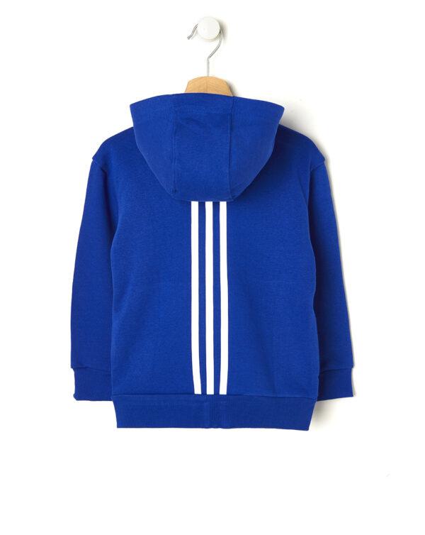 Felpa Adidas blu con cappuccio - ADIDAS