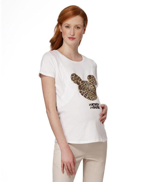 T-shirt allattamento con stampa Mickey Mouse - Prénatal