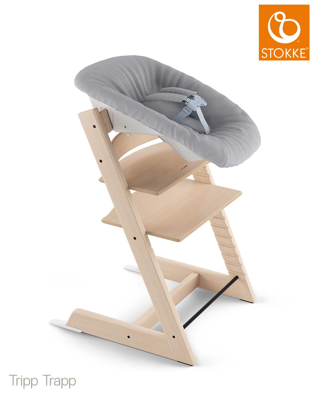 Tripp trapp® newborn set con gancio appendigiochi  - grey - Stokke