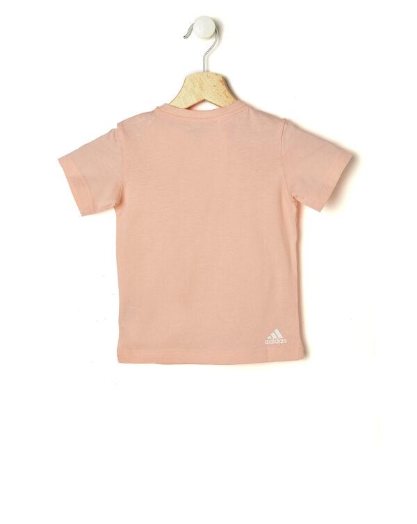 T-shirt rosa Adidas con automatici - ADIDAS