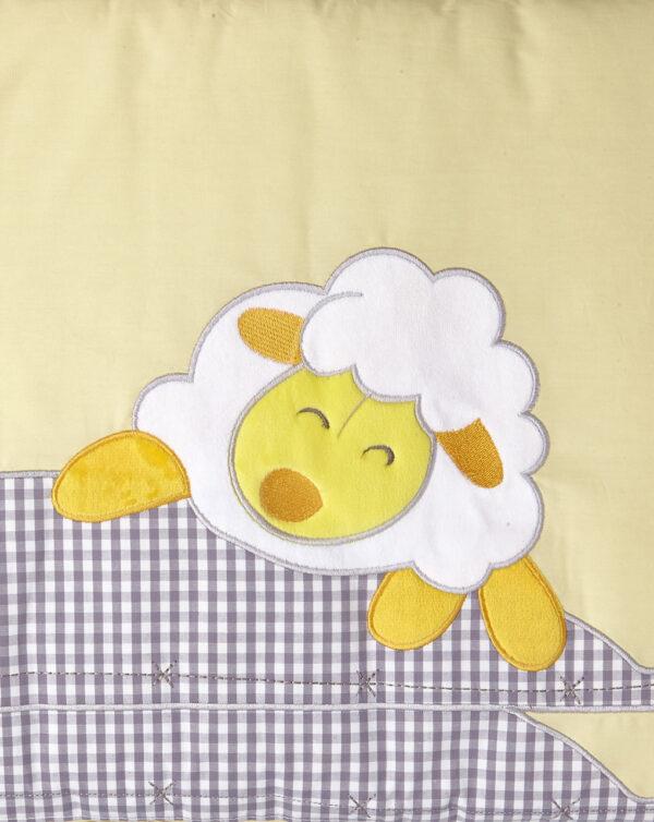 Paracolpi giallo con animaletti e stampa vichy - Prénatal