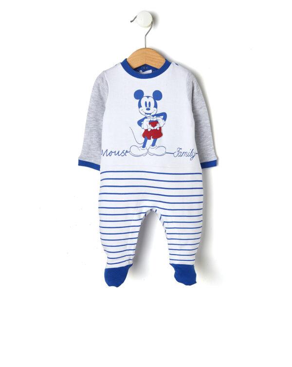 Tutina interlock con stampa Mickey Mouse - Prénatal
