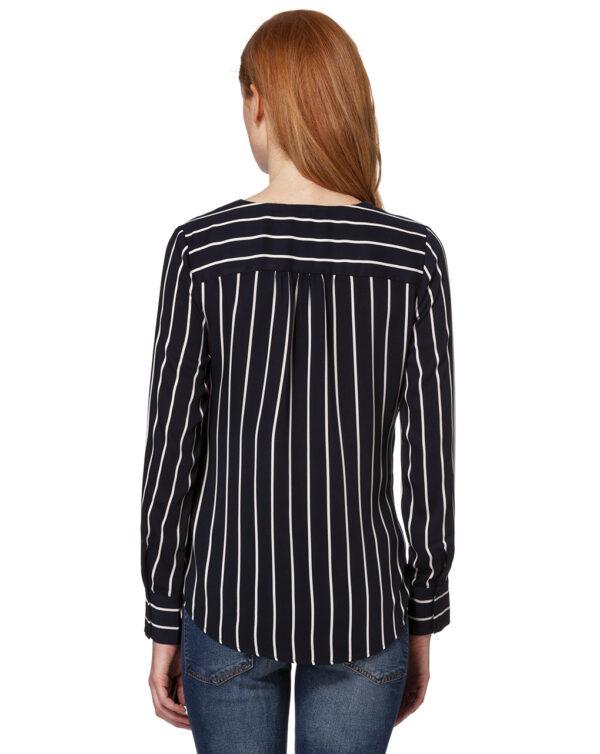 Blusa a righe blu scuro e bianco incrociata - Prénatal