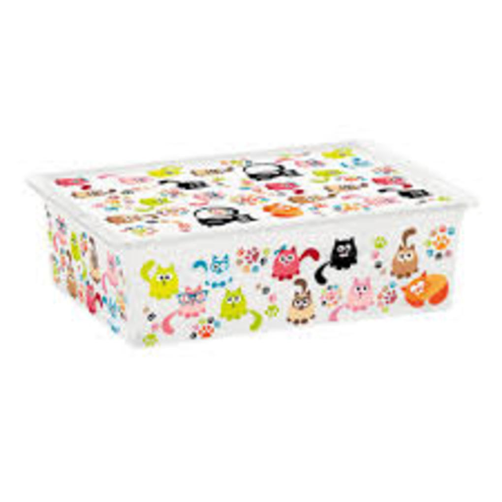 C-box cute animals l con ruote - 55x38,5 - Kis