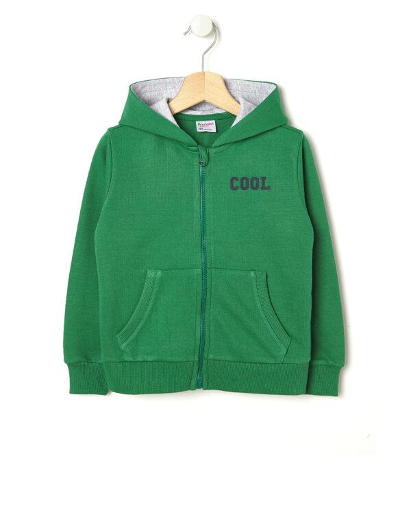 Cardigan in felpa verde con cappuccio Cool - Prénatal