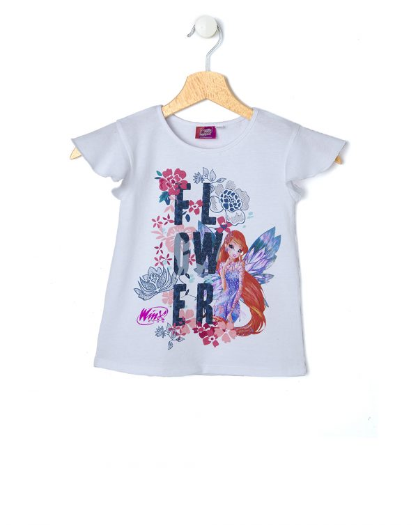 T-shirt mezza manica con stampa Flora - Prénatal