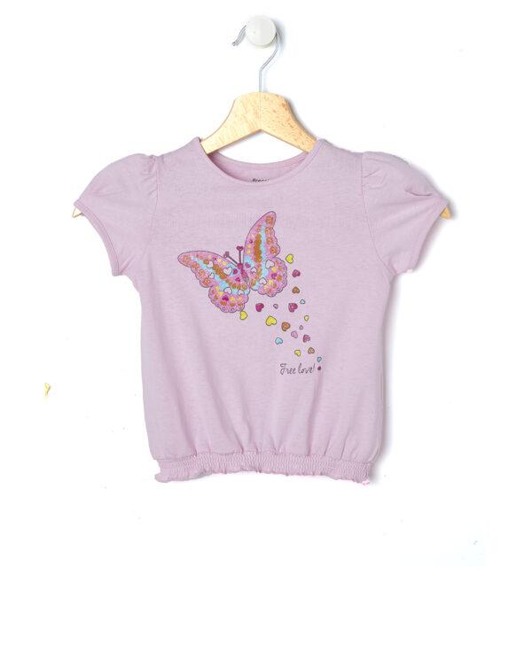 T-shirt mezza manica con stampa glitterata - Prénatal